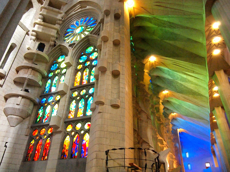 Inside Sagrada Familia in Barcelona