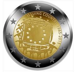 Euro flag coin design