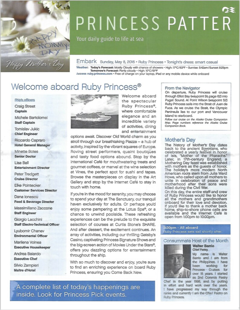 Looking For A 2016 Ruby Princess Alaska Cruise Princess Patter Cruise Critic Message Board Forums