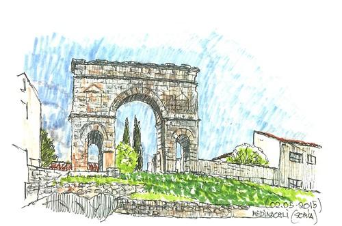 Medinaceli (Soria). Arco romano
