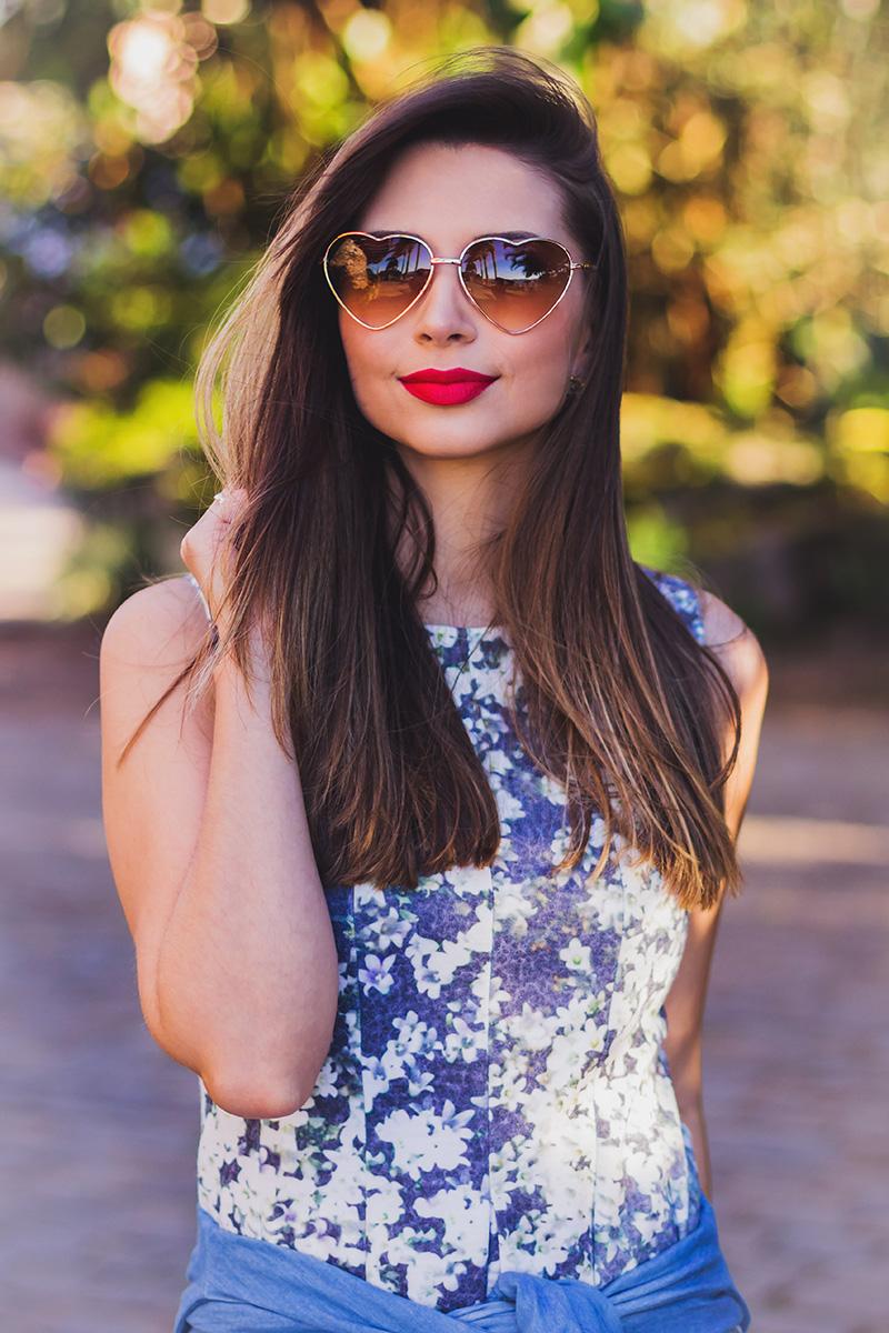 10-look do dia vestido florido com camisa jeans amarrada jana taffarel blog sempre glamour