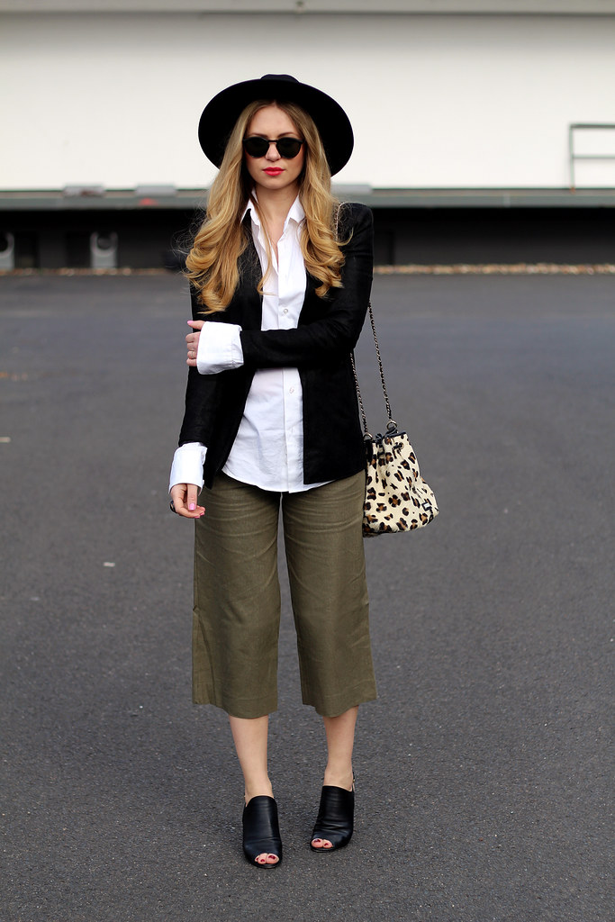 asos culottes leopard bag