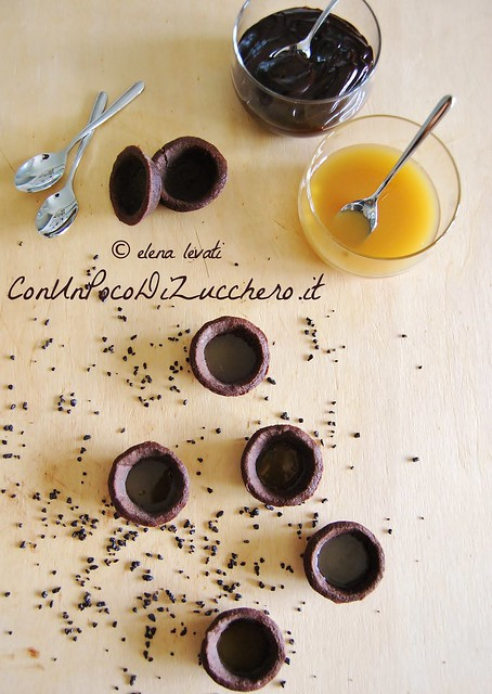 Tartellette mignon con Vov e ganache al cioccolato