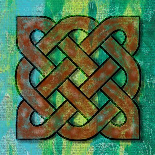 Digital art - rusty celtic knot