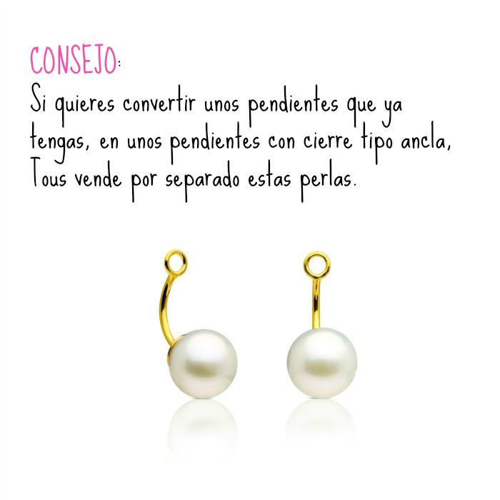 perla para colgar pendientes Tous