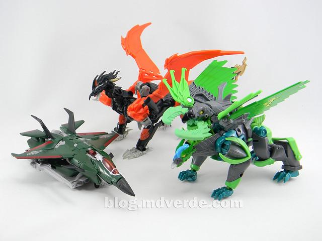 Transformers Grimwing Voyager - Prime Beast Hunters - modo bestia vs Predaking vs Skyquake