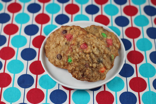 Pioneer Woman's Monster Cookies with M&Ms, Chocolate Chips, Oatmeal, Nuts and Rice Krispies