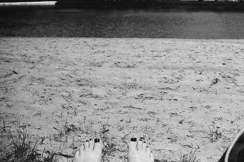 Summer's first toe shot