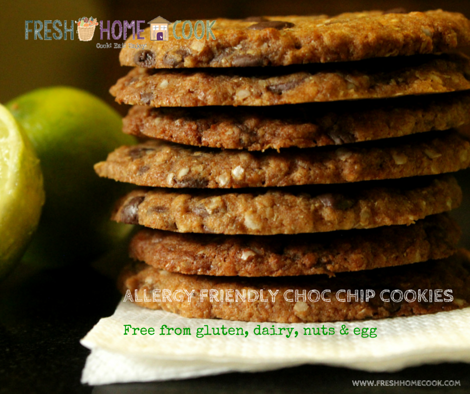 Allergy Friendly Choc Chip Cookies