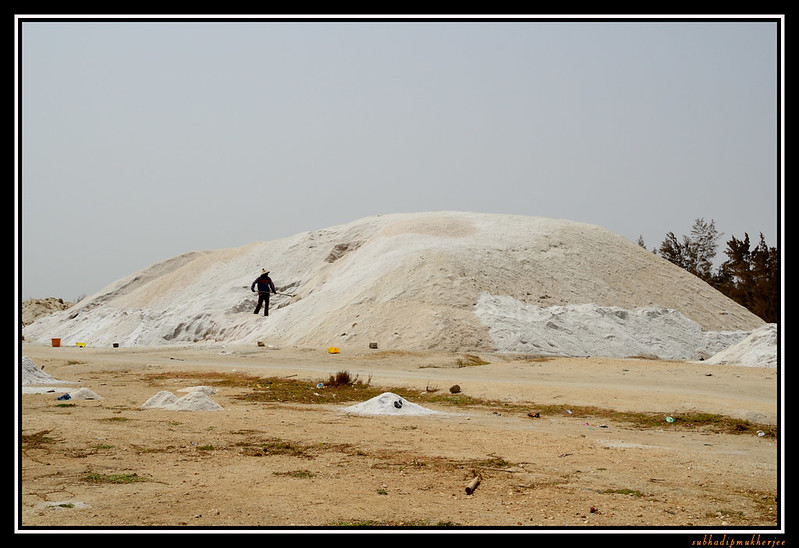 Drying of salt - Lac Rose - Pink Lake