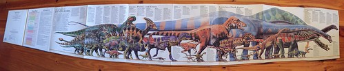 Rand McNally Dinosaurs A Fold-Out Book