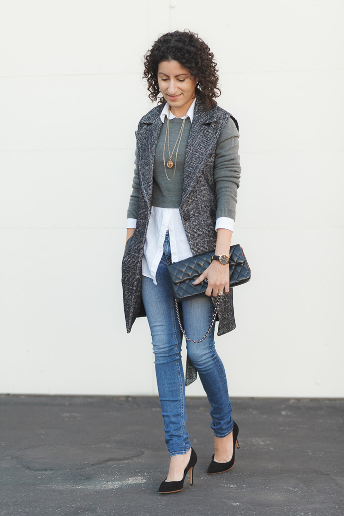 style tip layer with cropped clothing