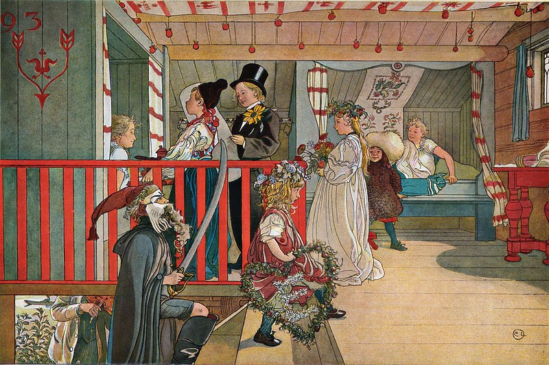 Carl Larsson - Nameday at the storage house (1898)