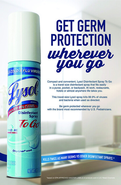 Lysol To Go Disinfectant Spray