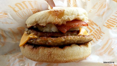 Double Sausage Egg McMuffin