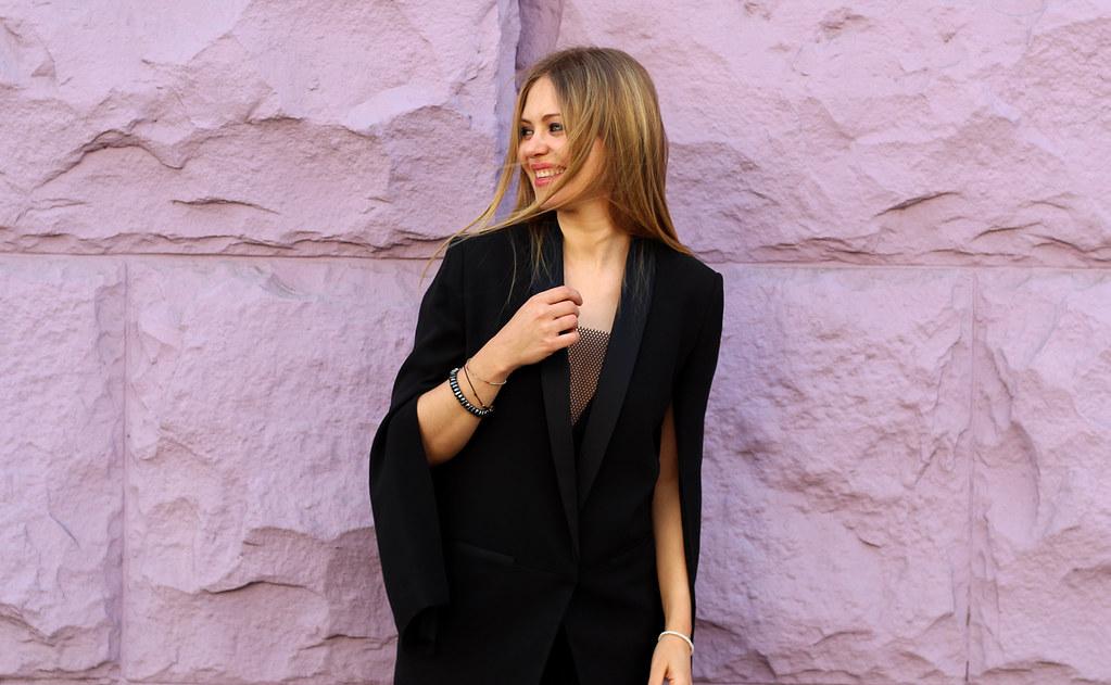 H&M Conscious Exclusive Silk Blazer Look
