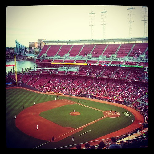 #Reds versus #Braves. I love watching games from my favorite seats at GABP...