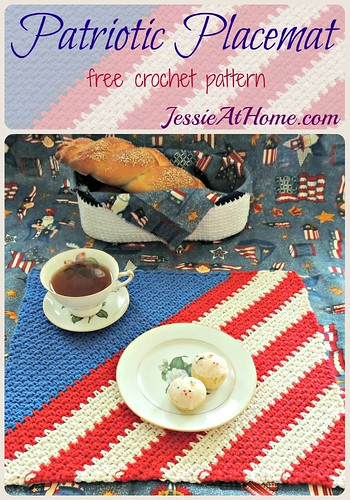 Patriotic Placemat ~ free crochet pattern from Jessie At Home