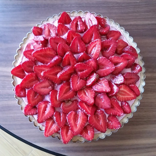 #strawberry mousse #tart.