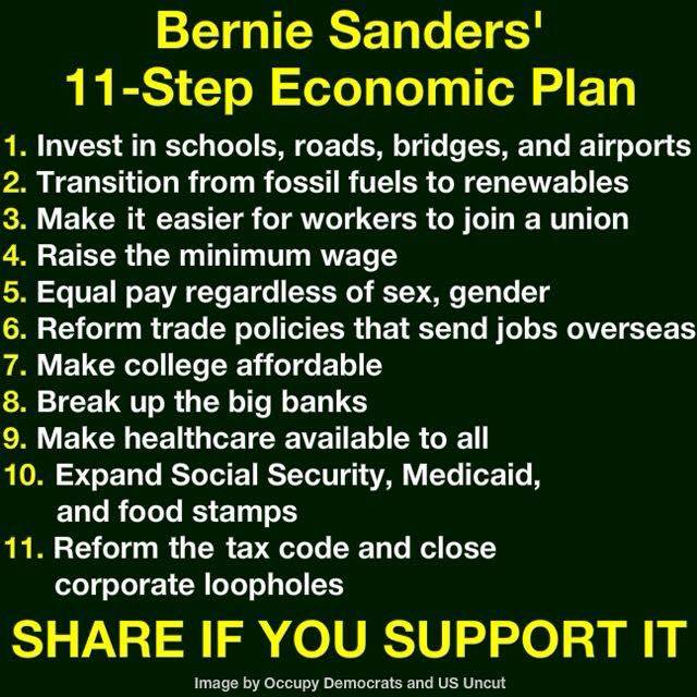 occupy democrats bernie sanders plan
