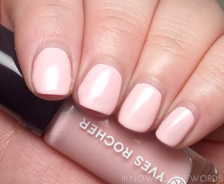 yves rocher summer creation 2015 nail lacquers perfect light pink