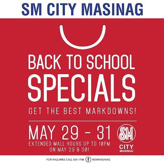 sm masinag back to school sale May 2015