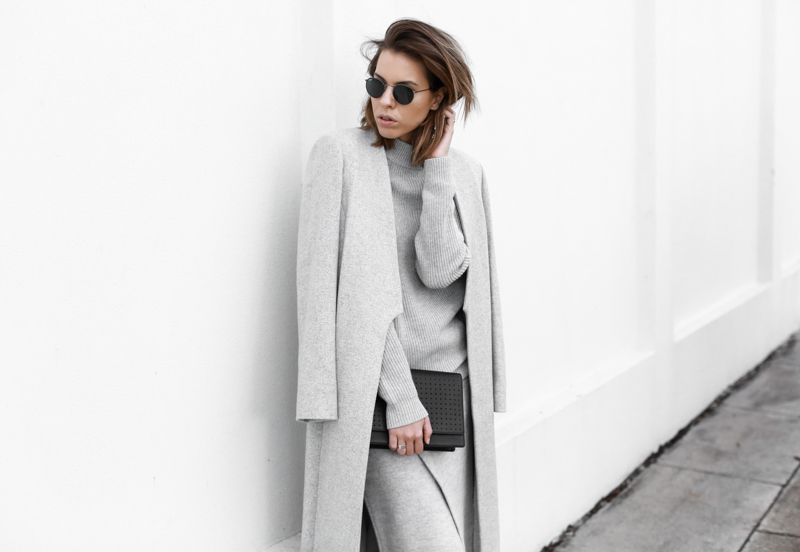 modern legacy, fashion blog, grey street style, minimal, grey coat, knit, Anine Bing clutch, Witchery (1 of 1)