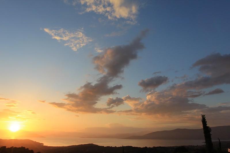 Sunset over Amanzoe