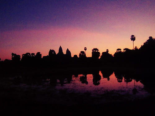 Seeing the sunrise over Angkor Wat