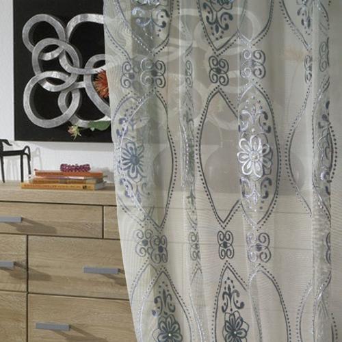 珍珠蕾絲紗(獨家) 高貴奢華立體珍珠繡花 無接縫窗紗布 DB3490005