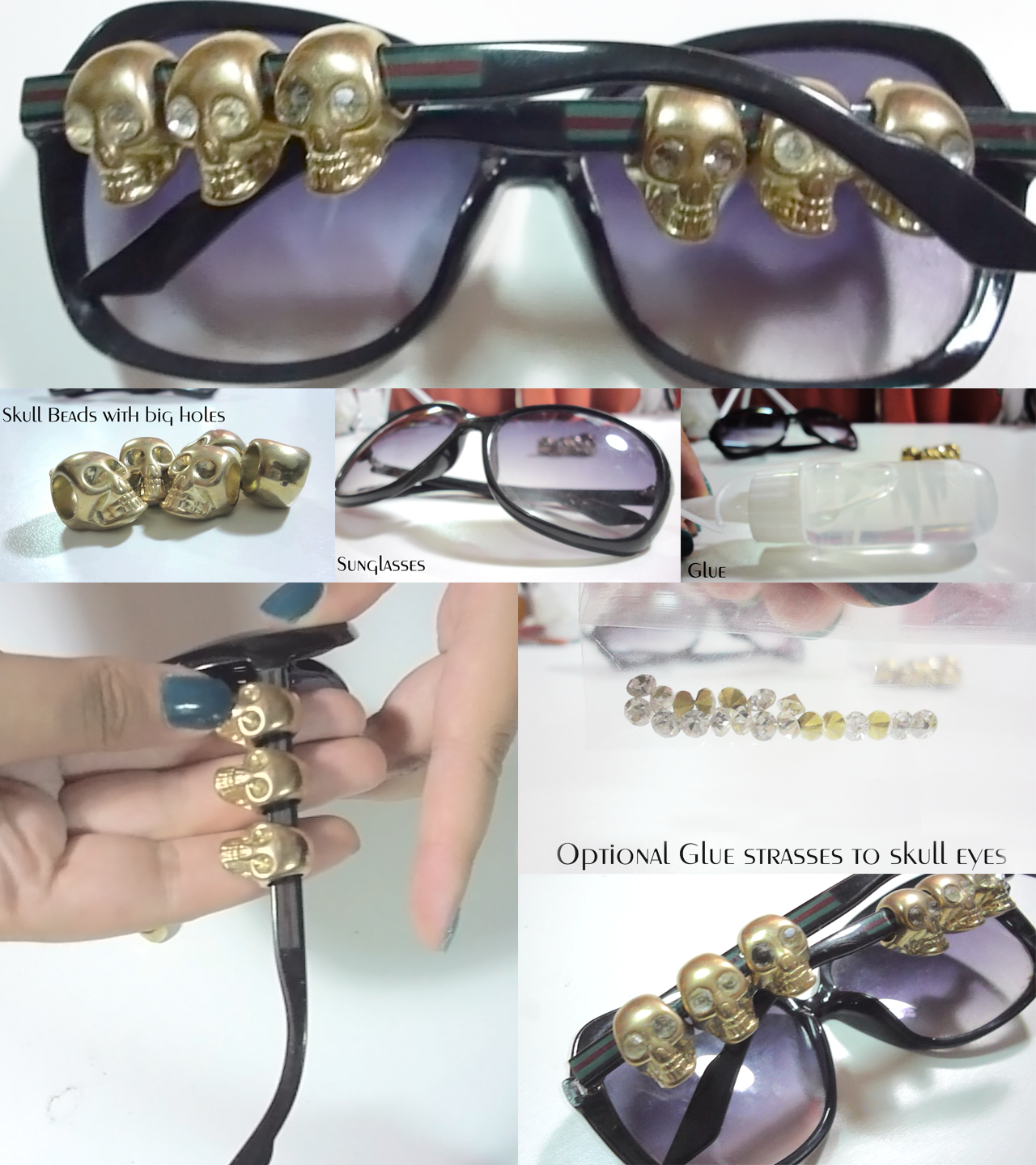 Sunglasses with skulls