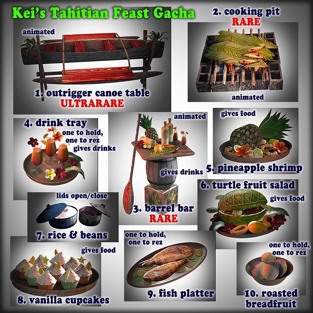 Kei's Tahitian Feast Gacha