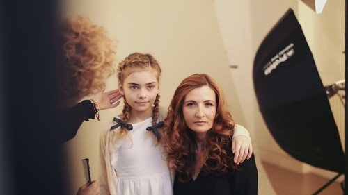 Francesco Group photo shoot - Catherine Summers and Harley Chapman