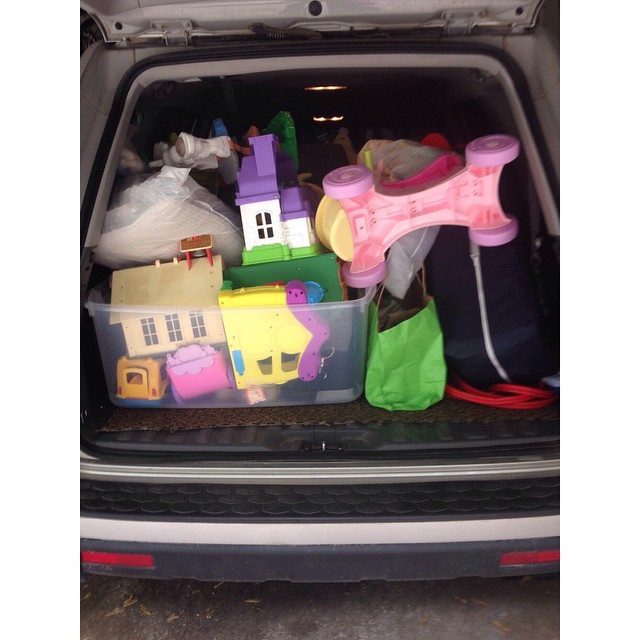 One Honda Pilot full of stuff going to the Junior League Discovery Shop!