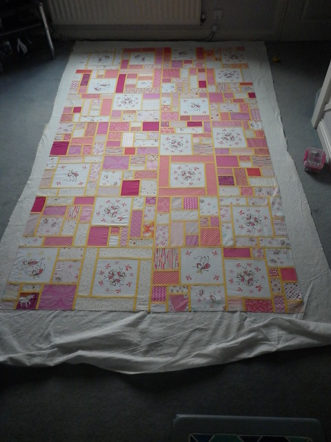 Fairy quilt - waiting for pins