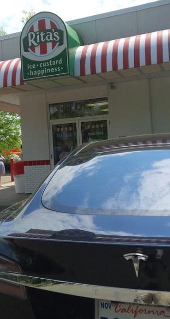 Tesla at Rita's