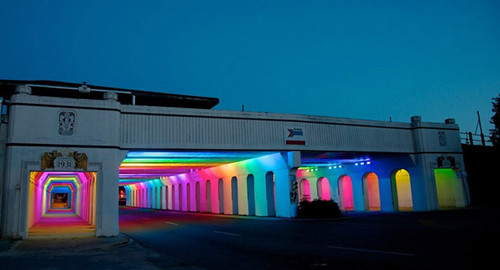 "Tunnel of Lights, Birmingham, Alabama, ""Light  Rails"" by Bill FitzGibbons"