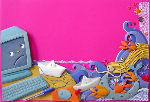 Paper Sculpture Sea Illustration - Patricia Lima