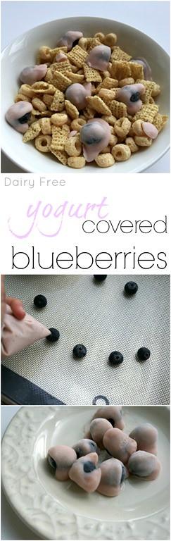 Dairy Free Frozen Yogurt Covered Blueberries - A healthy summer snack