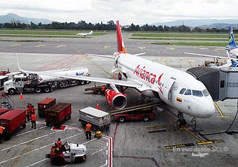 Avianca A319 en manga BOG (RD)
