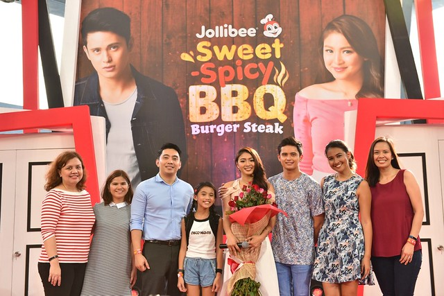 JaDine with Jollibee Executives