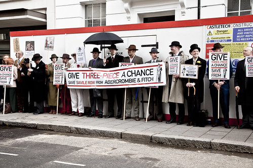 The Chap Protest - Savile Row - Abercrombie & Fitch | by Stephanie Wolff