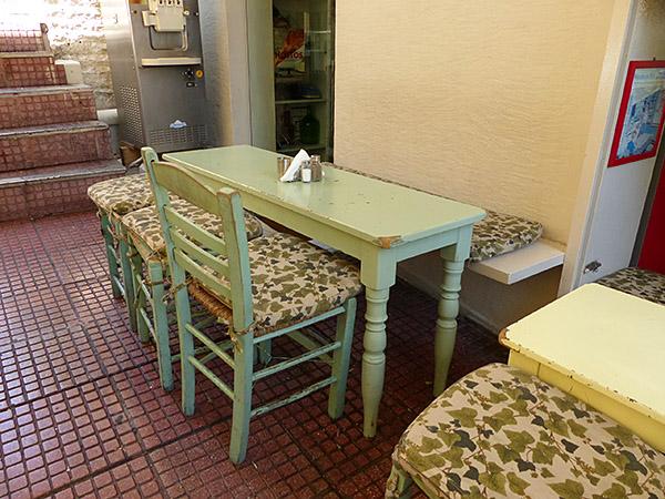 notre table à Kolonaki