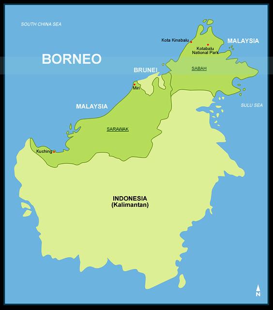 Map of Borneo