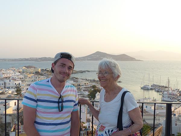 Lala et Clem sur la terrasse 1739