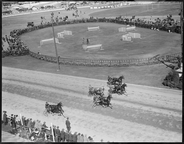 Horse racing at Brockton Fair