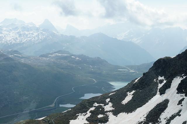 Berninapass von oben