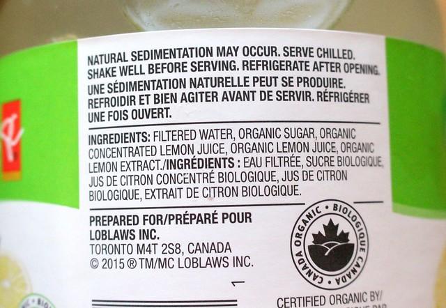President's Choice Organics Lemonade