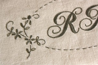 Monogram detail | by Bloom and Blossom