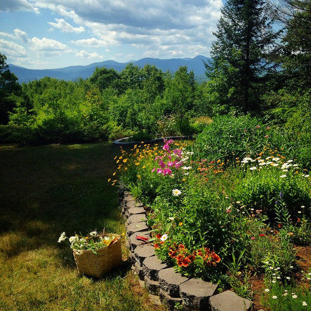 Garden in the mountains